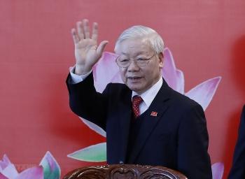 Tổng Bí thư Nguyễn Phú Trọng chủ trì họp báo sau ĐH Đảng XIII