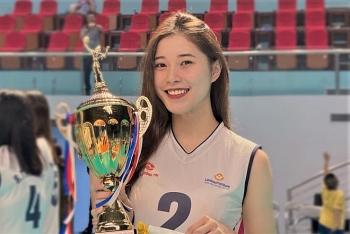 'Hot girl bóng chuyền' Đặng Thu Huyền giải nghệ ở tuổi 19?