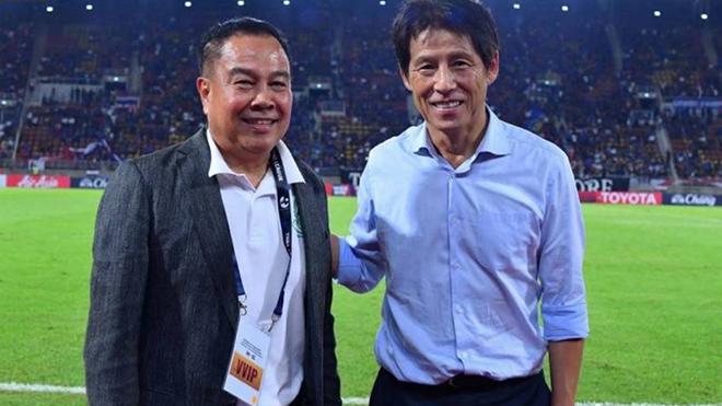 Chưa bị sa thải, HLV Nishino vẫn tuyên bố đưa Thái Lan đến World Cup