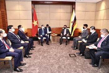 Thủ tướng Chính phủ Phạm Minh Chính hội kiến Quốc vương Brunei