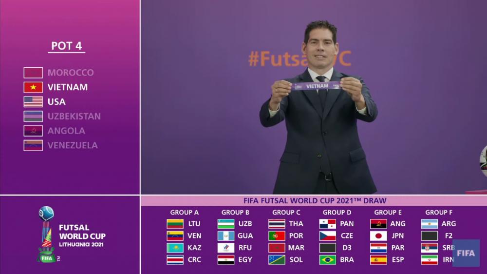 Lịch thi đấu ĐT Futsal Việt Nam tại VCK FIFA Futsal World Cup 2021: Việt Nam vs Brazil