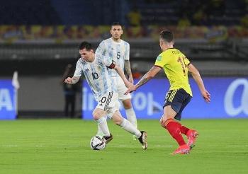 Bị Colombia gỡ hòa phút cuối, Argentina lâm nguy ở vòng loại World Cup 2022