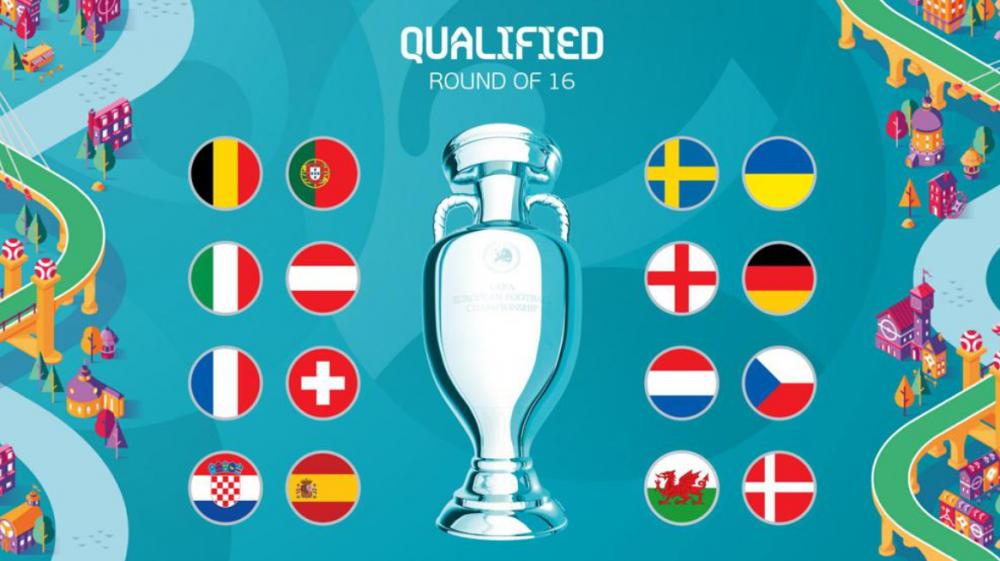 Lịch thi đấu vòng 1/8 EURO 2021: Anh vs Đức, Bỉ vs Bồ Đào Nha