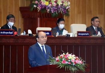 Toàn văn bài phát biểu của Chủ tịch nước Nguyễn Xuân Phúc tại phiên họp Quốc hội Lào