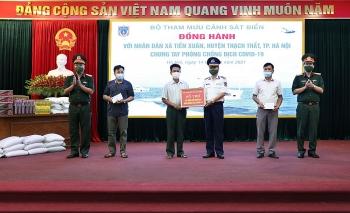 Bộ Tham mưu Cảnh sát biển chung tay phòng chống dịch COVID-19 với nhân dân xã Tiến Xuân
