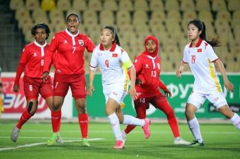 Tuyển nữ Việt Nam thắng không tưởng trước Maldives ở vòng loại Asian Cup nữ 2022