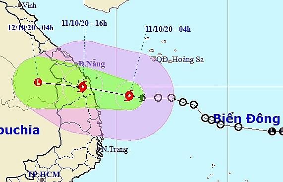 Bão giật cấp 10 đổ bộ vào Quảng Nam - Bình Định trong 12 giờ tới