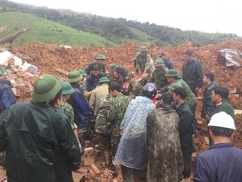 Vụ sạt lở núi khu vực đóng quân của Đoàn KT-QP 337: Đã tìm thấy thi thể 8 cán bộ, chiến sĩ