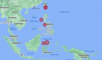 Động đất và cảnh báo sóng thần liên tiếp xảy ra ở Biển Đông