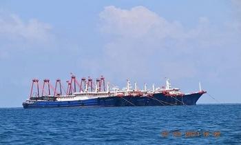 Phát hiện hơn 200 tàu Trung Quốc tập trung ở một khu vực trên Biển Đông