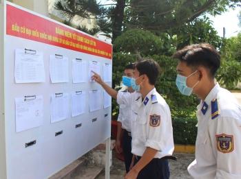Cảnh sát biển với công tác chuẩn bị bầu cử nơi đảo xa