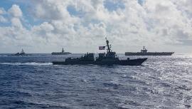 Hải quân Mỹ phối hợp chiến dịch trên Biển Philippines, Trung Quốc dọa đáp trả