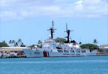 Tàu Cảnh sát biển Việt Nam 8021 rời Hawaii về nước