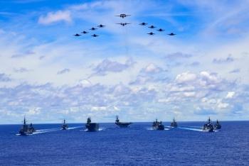 Tàu chiến Úc, Mỹ, Nhật đoàn kết đương đầu với Trung Quốc ở Biển Đông