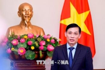 Lễ giao nhận bản đồ địa hình biên giới giữa Việt Nam và Campuchia