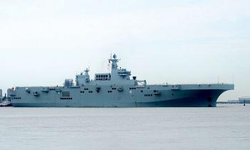 Trung Quốc chạy thử tàu đổ bộ lớn hạng ba thế giới