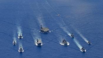 """Tàu sân bay USS Ronald Reagan tập trận """"trấn an"""" đồng minh và đối tác trong khu vực"""
