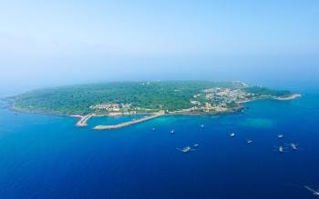 Nét thanh bình, hoang sơ của đảo nhỏ giữa biển Đông