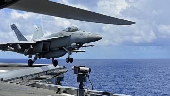 Tàu sân bay Mỹ quay lại tập trận ở Biển Đông