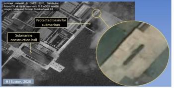 Xuất hiện ảnh về một tàu ngầm mới bí ẩn ở Triều Tiên