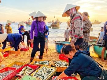 Bình minh chợ cá