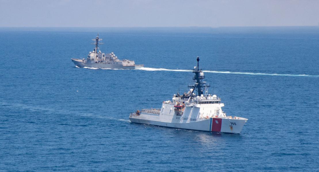 Trung Quốc tăng cường lực lượng hải cảnh, Mỹ điều tàu duyên vũ trang đến Biển Đông