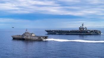 Chiến đấu cơ tàng hình F-35C của Mỹ đang hoạt động Biển Đông