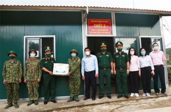 Kiểm tra các chốt quản lý, bảo vệ biên giới và phòng chống dịch Covid-19 trên tuyến biên giới Lạng Sơn