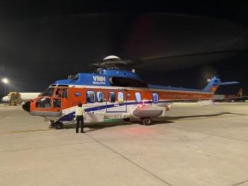 Ngư dân đột quỵ ở Trường Sa được trực thăng đưa vào đất liền an toàn