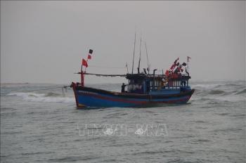 Ba tàu cá Quảng Ngãi gặp nạn, trôi dạt trên biển