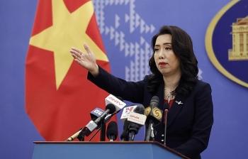 Bộ Ngoại giao: Khu vực Trung Quốc tập trận nằm ngoài vùng biển Việt Nam