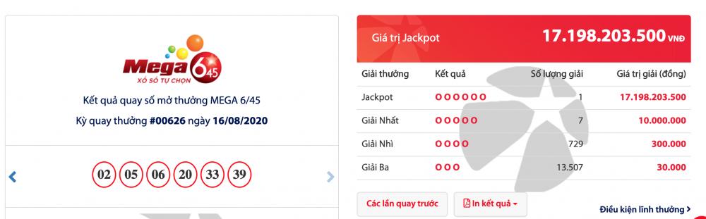 Kết quả xổ số Vietlott mới nhất: 2 ngày liên tiếp có người trúng giải Jackpot 40 tỉ và 17 tỉ đồng