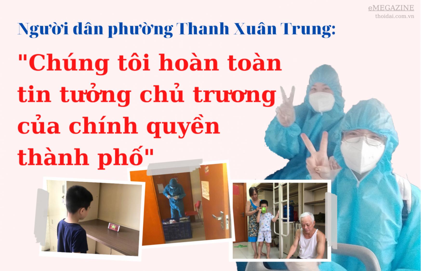 """Người dân phường Thanh Xuân Trung: """"Chúng tôi hoàn toàn tin tưởng chủ trương của thành phố"""""""