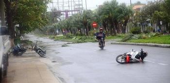 Bão số 9 giật đổ cây xanh, nhà tốc mái tại Đà Nẵng, Quảng Nam, Quảng Ngãi