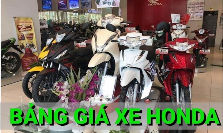 Giá xe máy Honda cập nhật, kèm ưu đãi khuyến mãi