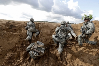 Mỹ tăng cường lực lượng gần biên giới Nga