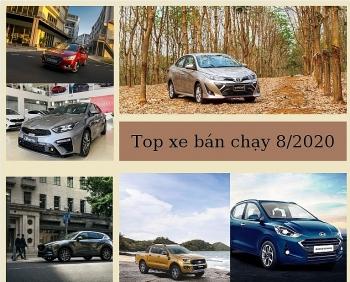 Top 10 xe bán chạy tháng 8/2020: CR-V tăng đột biến, Vios duy trì ngôi vương