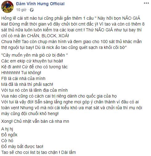 dam vinh hung xung may tao goi anti fan la nao gia