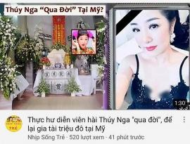 Tin tức giải trí sao Việt hôm nay (3/7): Thúy Nga lên tiếng việc bị tung tin qua đời ở Mỹ