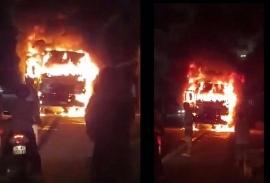 Tin tức tai nạn giao thông ngày 5/7: Xe tải bốc cháy dữ dội sau va chạm với xe máy