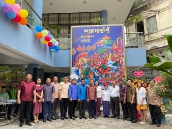 Tết Chôl Chnăm Thmây đầm ấm, sum vầy tại Đại sứ quán Vương quốc Campuchia tại Việt Nam