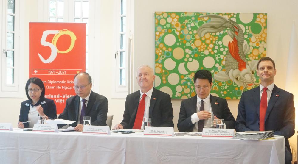 Công bố hàng loạt hoạt động kỷ niệm 50 năm thiết lập quan hệ ngoại giao Thụy Sĩ - Việt Nam