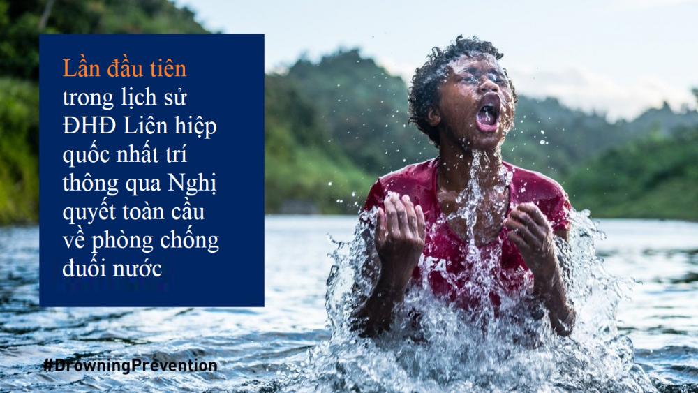 2/3 tổng số ca tử vong trên toàn cầu do đuối nước xảy ra ở khu vực Châu Á Thái Bình Dương