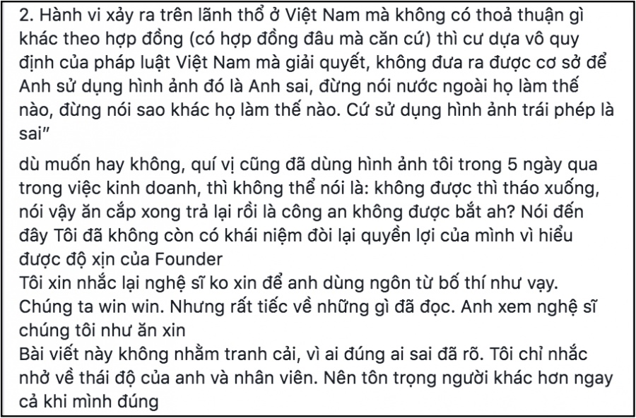 facebook sao viet hom nay 257 truong the vinh dang dan dau to nhan hang tu y su dung hinh anh de quang cao trai phep