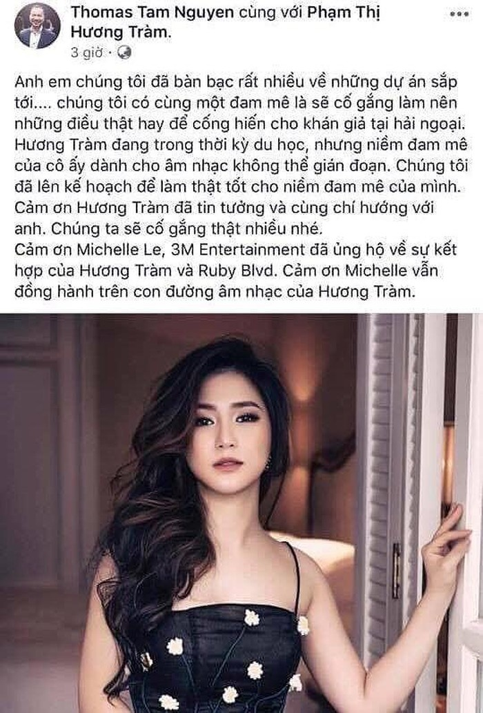 facebook sao viet hom nay 88 huong tram ki hop dong ca hat 5 nam tai my sau tuyen bo tam dung de di du hoc