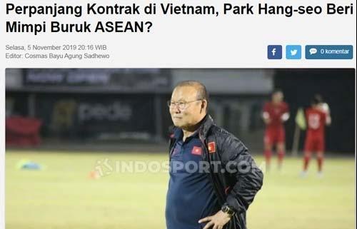 bao indonesia gia han hop dong voi vff hlv park hang seo gieo con ac mong cho ca dong nam a