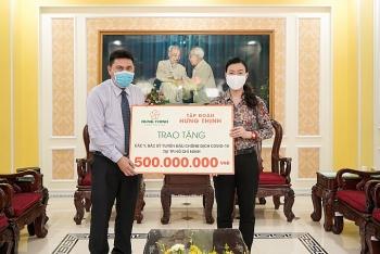 Tập đoàn Hưng Thịnh tiếp tục ủng hộ 20 tỷ đồng chống Covid-19