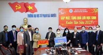 Thái Nguyên: tổ chức cho sinh viên Lào ở lại đón Tết cổ truyền của Việt Nam tại trường