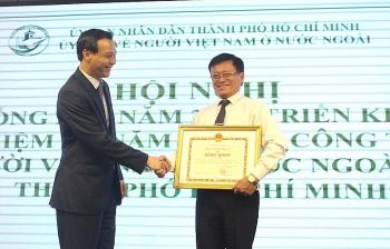 """Góp phần thực hiện thành công """"mục tiêu kép"""", Ủy ban về người Việt Nam ở nước ngoài TP Hồ Chí Minh nhận bằng khen"""