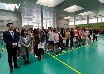 """100 đoàn viên, sinh viên các trường đại học tại thủ đô Moscow tham gia Giải cầu lông """"Hữu nghị 21"""""""